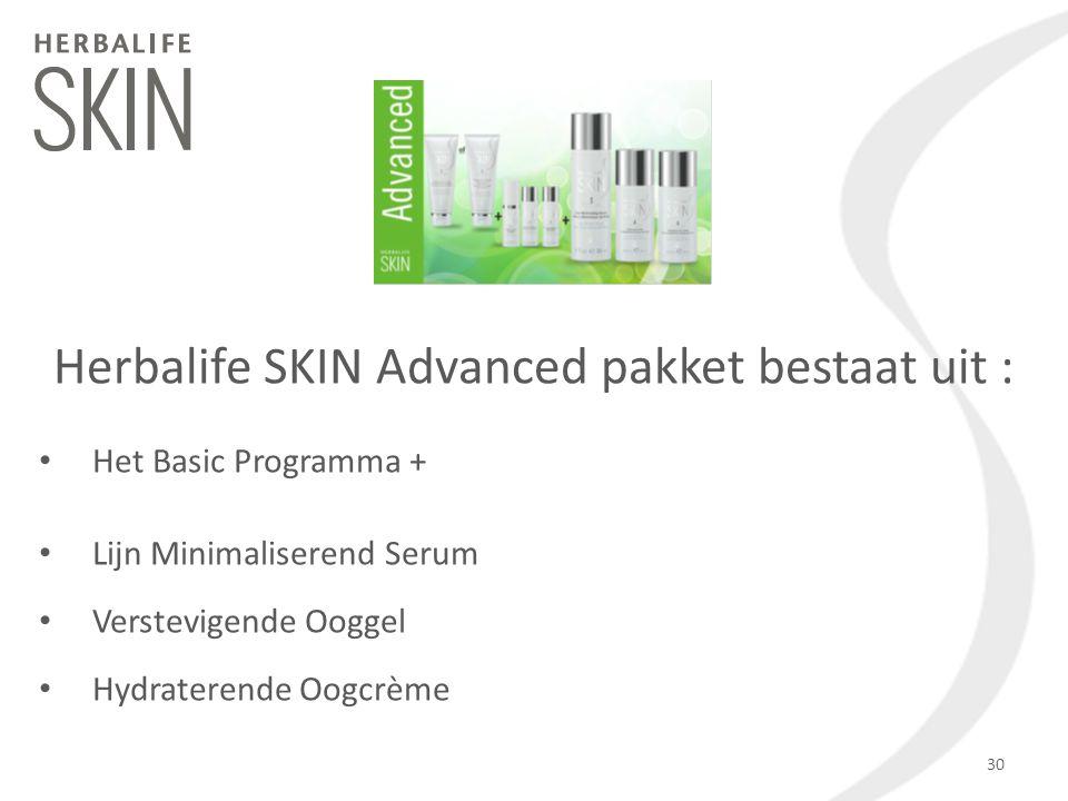 Het Basic Programma + Lijn Minimaliserend Serum Verstevigende Ooggel Hydraterende Oogcrème Herbalife SKIN Advanced pakket bestaat uit : 30