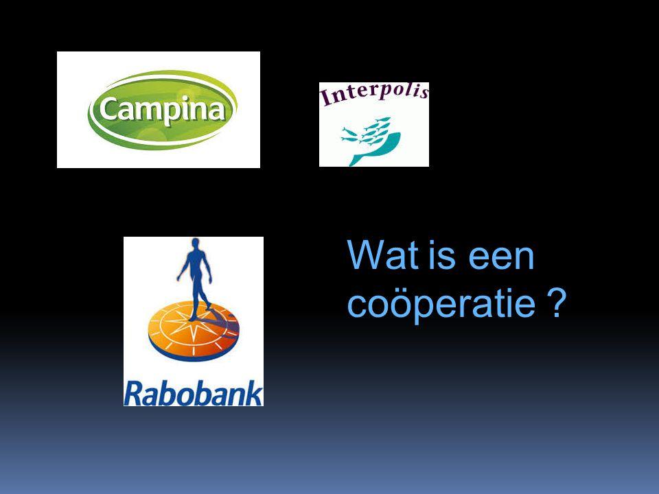 Wat is een coöperatie ?