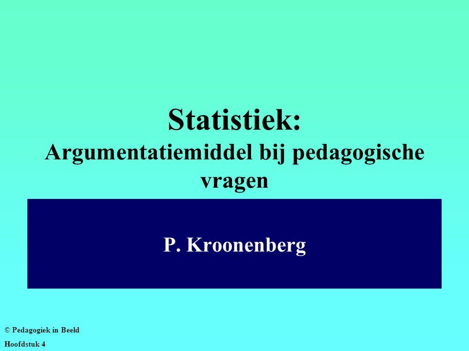 Statistiek: Argumentatiemiddel bij pedagogische vragen P.