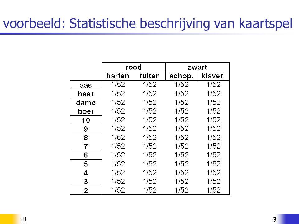 34 Variantie van een kansvariabele weging met kans regels voor varianties als X en Y onafhankelijke stochastische varn.