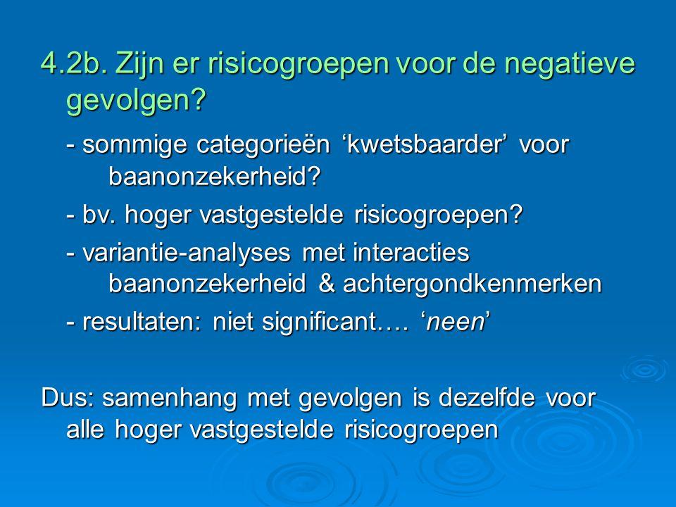 4.2b. Zijn er risicogroepen voor de negatieve gevolgen.
