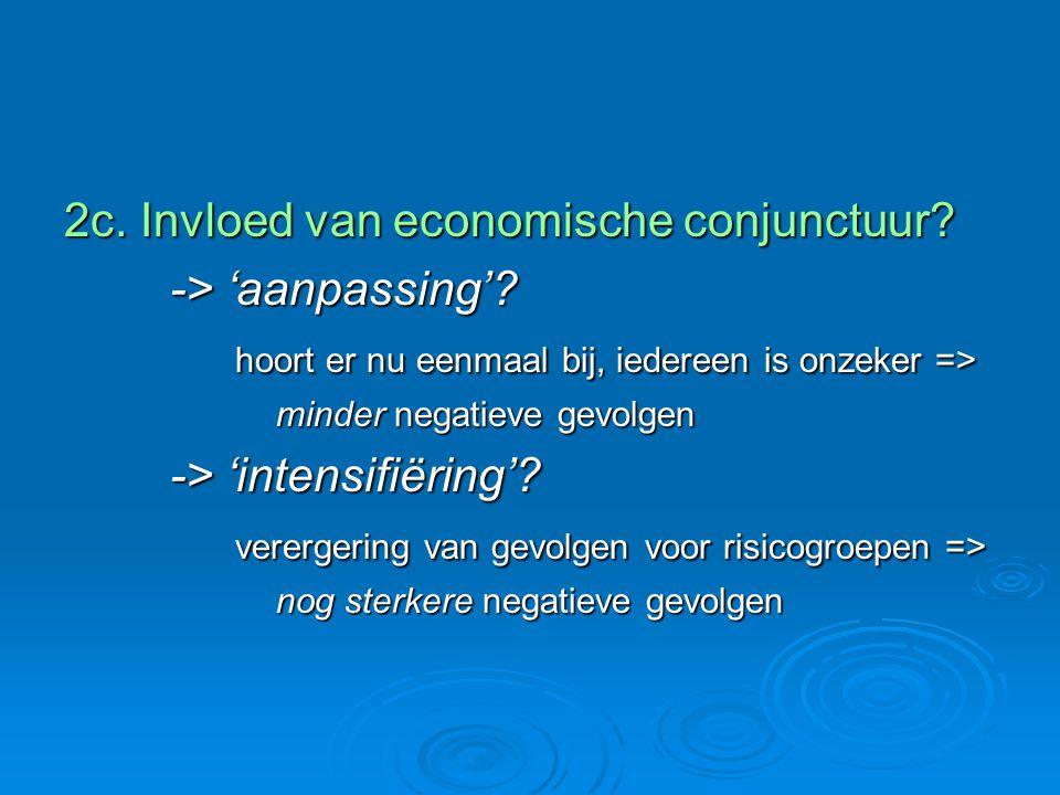 2c. Invloed van economische conjunctuur. -> 'aanpassing'.