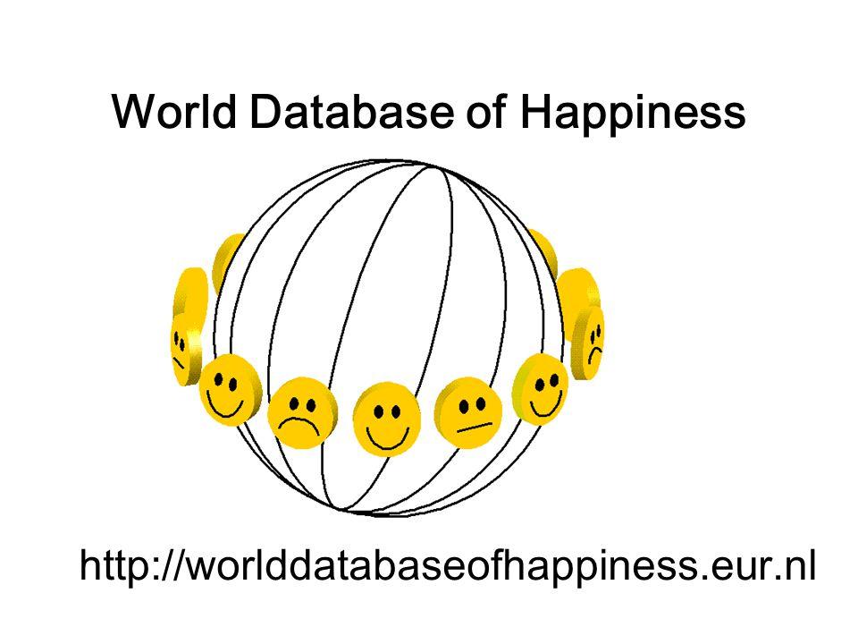 World Database of Happiness http://worlddatabaseofhappiness.eur.nl