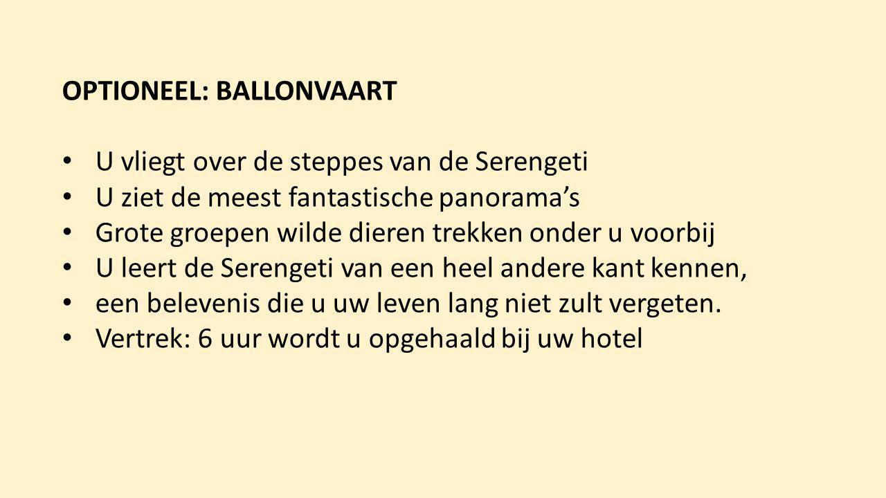 ballonvaart - u stijgt op met het opkomen van de zon en vliegt de zon tegemoet (afhankelijk van de wind) - de hoogte bepaalt u samen met uw piloot.