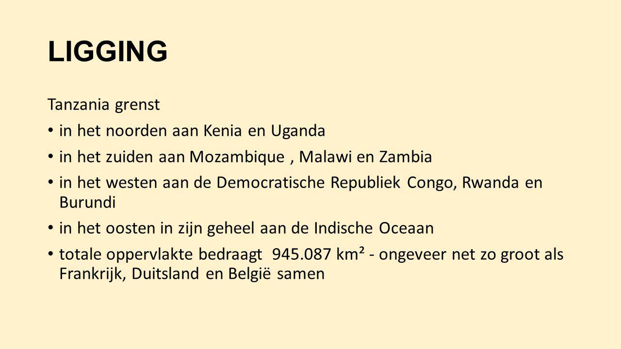 KLIMAAT Tanzania ligt bij de evenaar en heeft een tropisch klimaat.