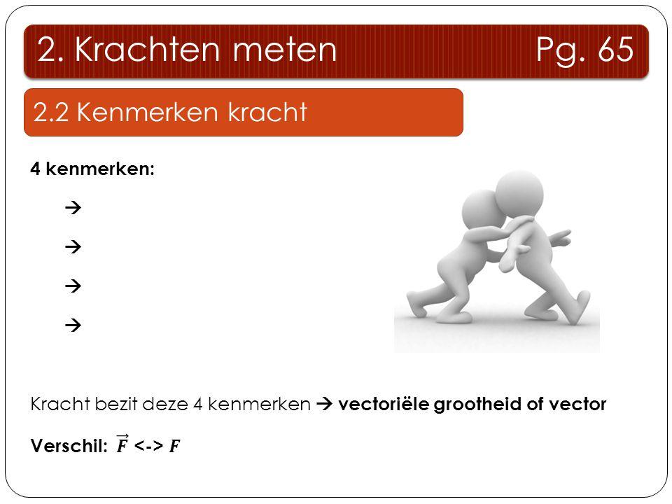2.Krachten meten Pg.68 2.3 voorstelling van een kracht 8.