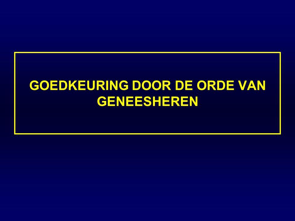 GOEDKEURING DOOR DE ORDE VAN GENEESHEREN