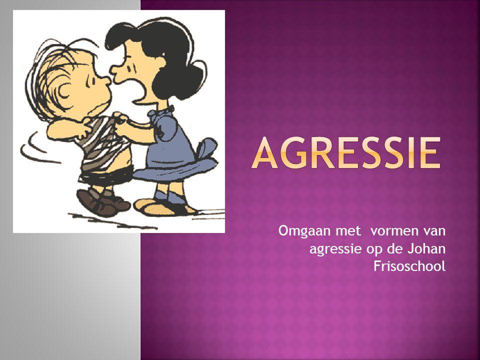 Omgaan met vormen van agressie op de Johan Frisoschool