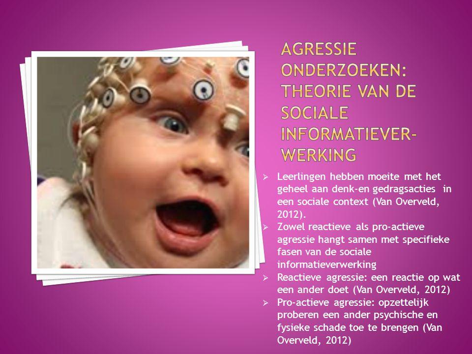  Leerlingen hebben moeite met het geheel aan denk-en gedragsacties in een sociale context (Van Overveld, 2012).