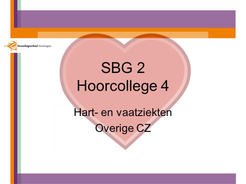 SBG 2 Hoorcollege 4 Hart- en vaatziekten Overige CZ