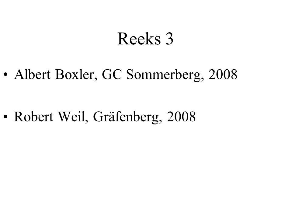 Reeks 3 Albert Boxler, GC Sommerberg, 2008 Robert Weil, Gräfenberg, 2008