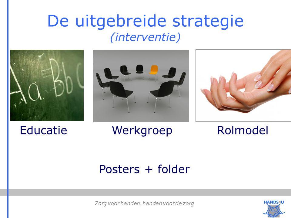 De uitgebreide strategie (interventie) EducatieWerkgroepRolmodel Posters + folder