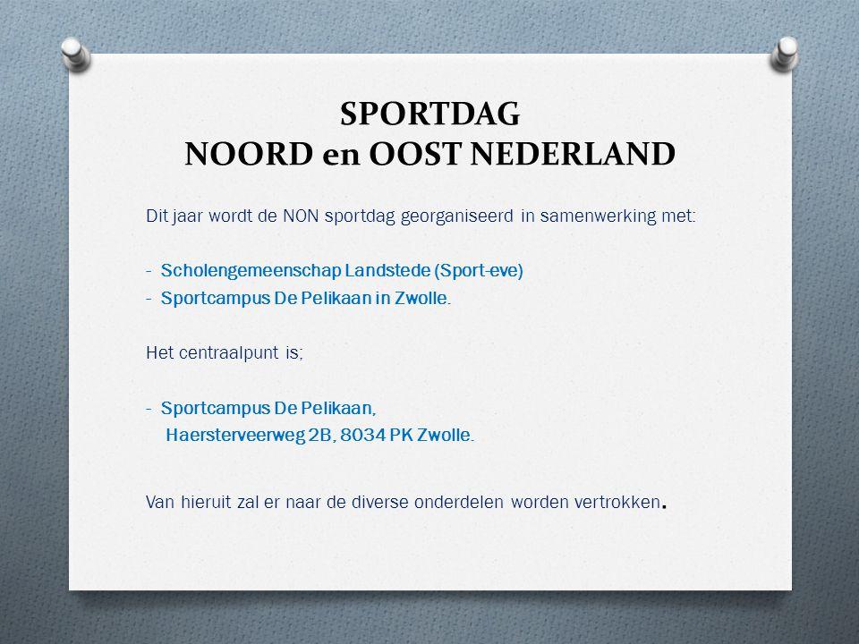 SPORTDAG NOORD en OOST NEDERLAND Dit jaar wordt de NON sportdag georganiseerd in samenwerking met: - Scholengemeenschap Landstede (Sport-eve) - Sportc