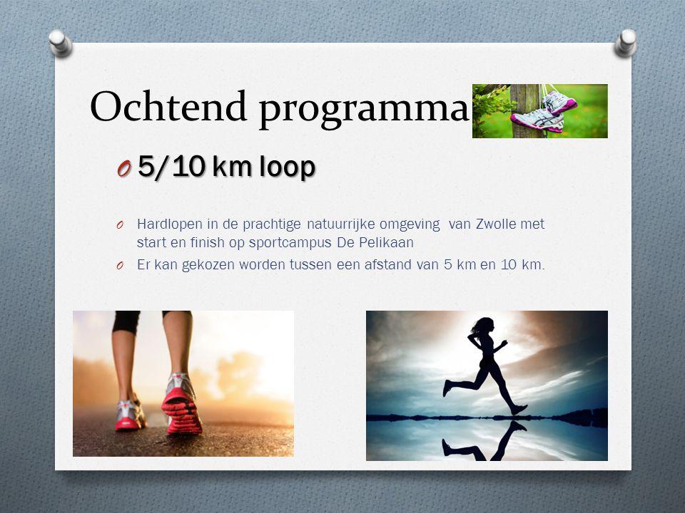 Ochtend programma O 5/10 km loop O Hardlopen in de prachtige natuurrijke omgeving van Zwolle met start en finish op sportcampus De Pelikaan O Er kan g