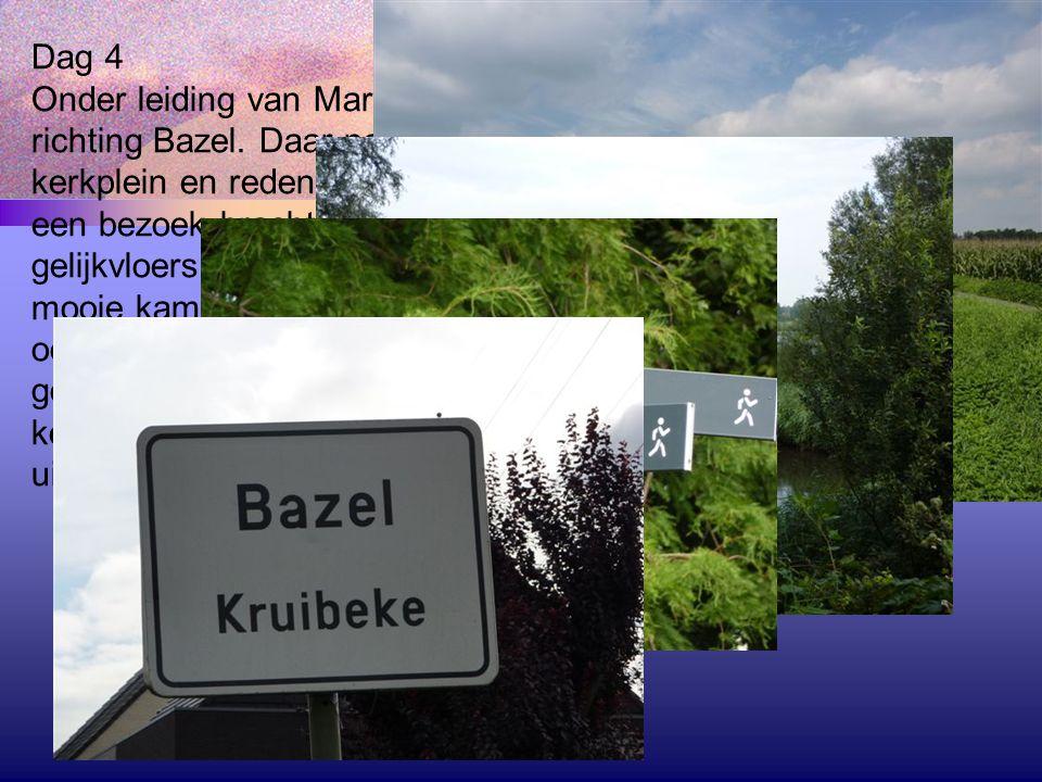 Dag 4 Onder leiding van Maria en Hilde vertrokken we deze keer richting Bazel.