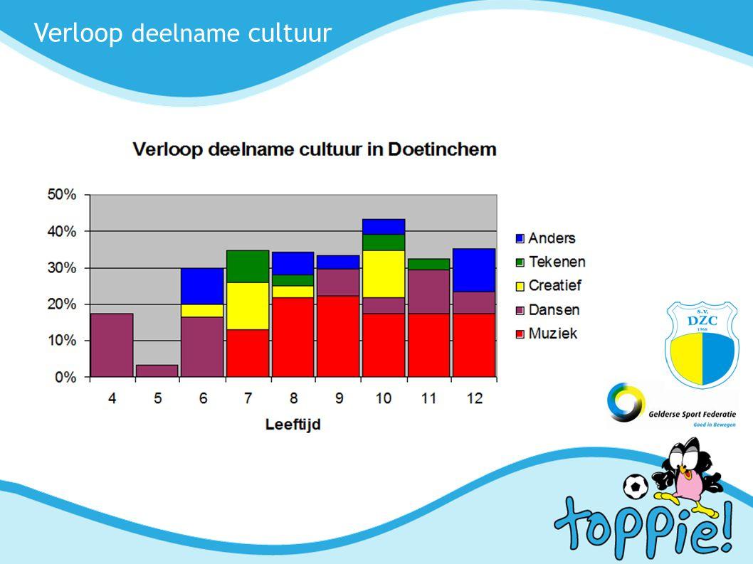 Verloop deelname cultuur
