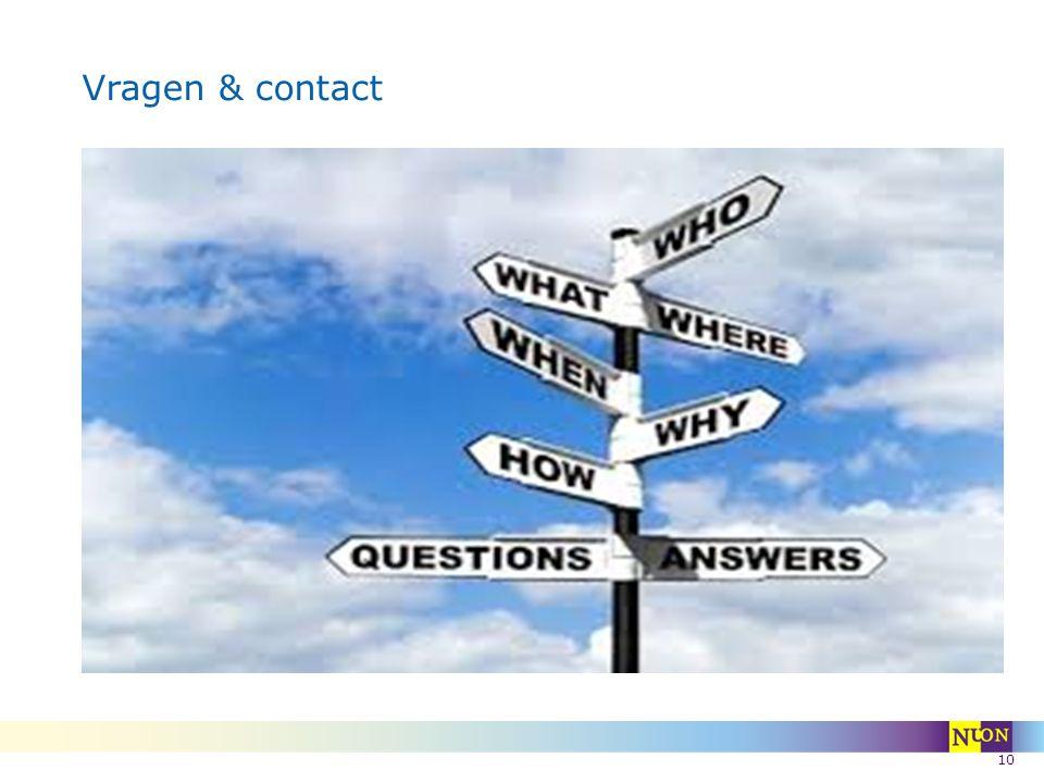 10 Vragen & contact