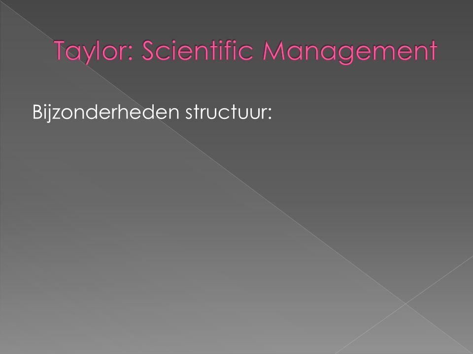 Bijzonderheden structuur: