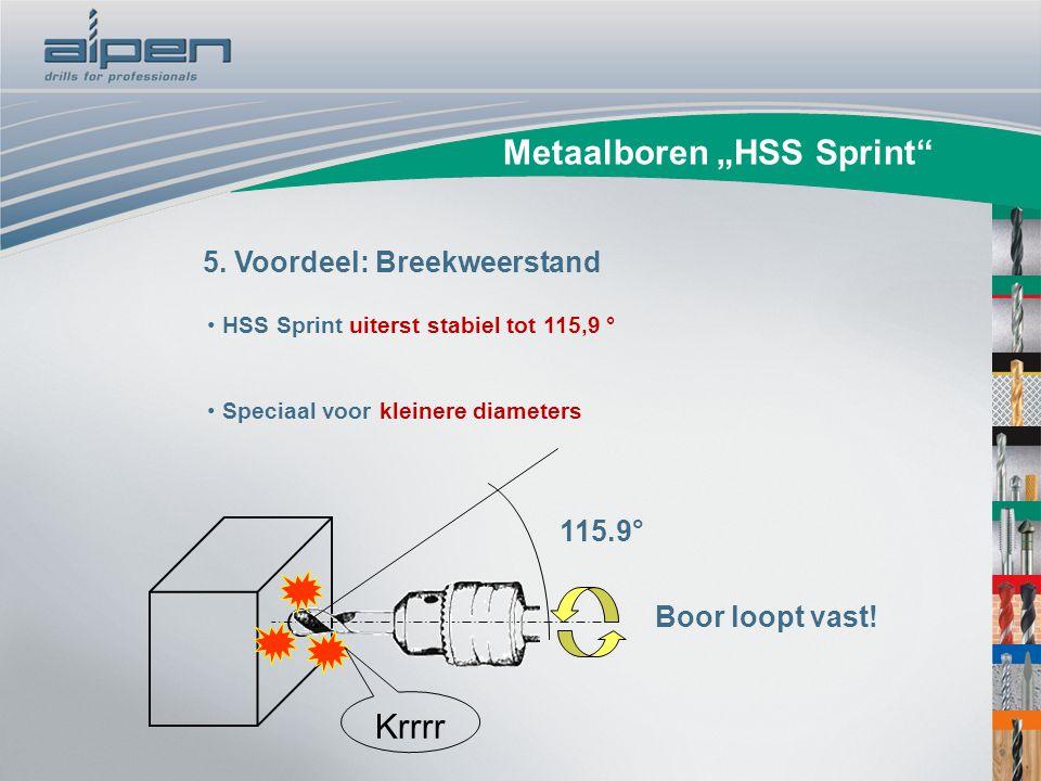 """Metaalboren """"HSS Sprint"""" 5. Voordeel: Breekweerstand HSS Sprint uiterst stabiel tot 115,9 ° Speciaal voor kleinere diameters Boor loopt vast! Krrrr 11"""