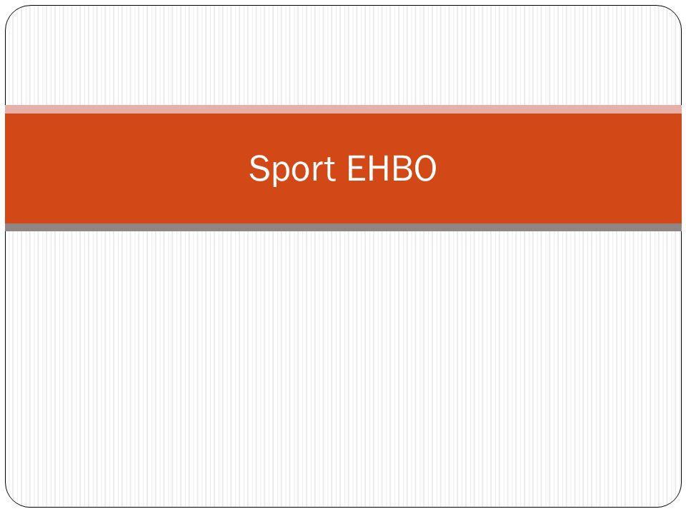 Inleiding EHBO-ers worden vaak bij sportevenementen ingeschakeld en komen zo als eerste in aanraking met veel sportongevallen.