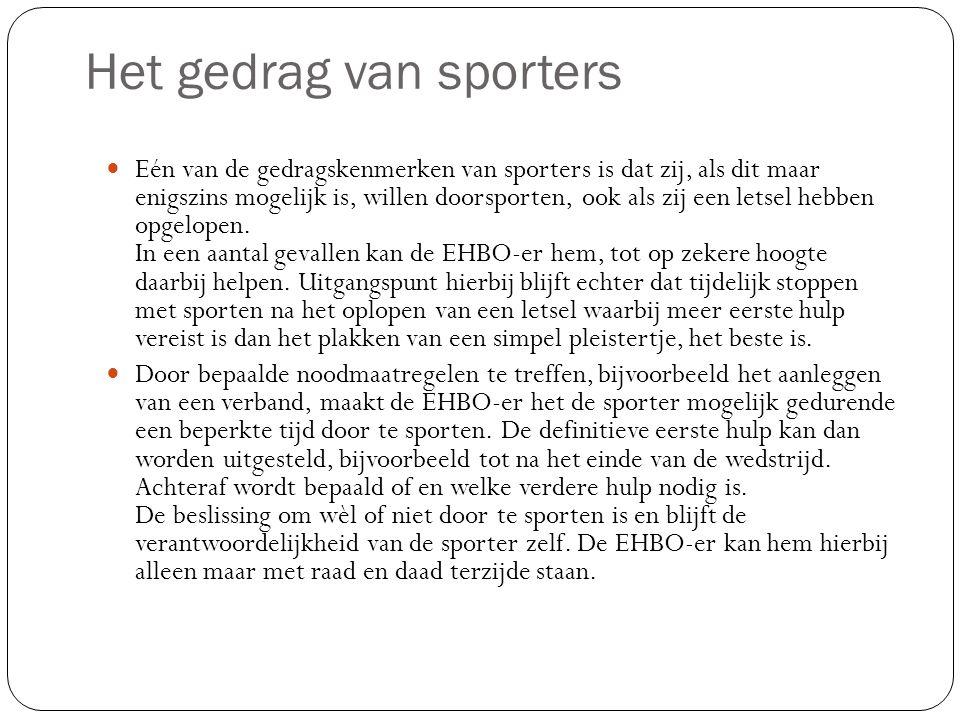 De aanwezigheid van EHBO-ers bij sportevenementen