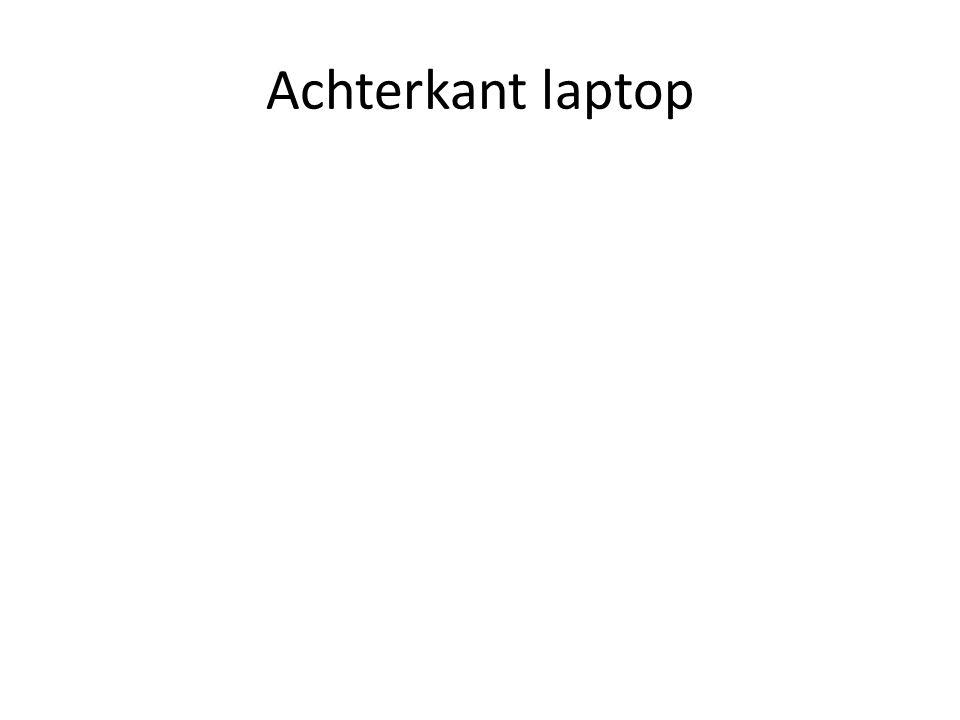 Achterkant laptop