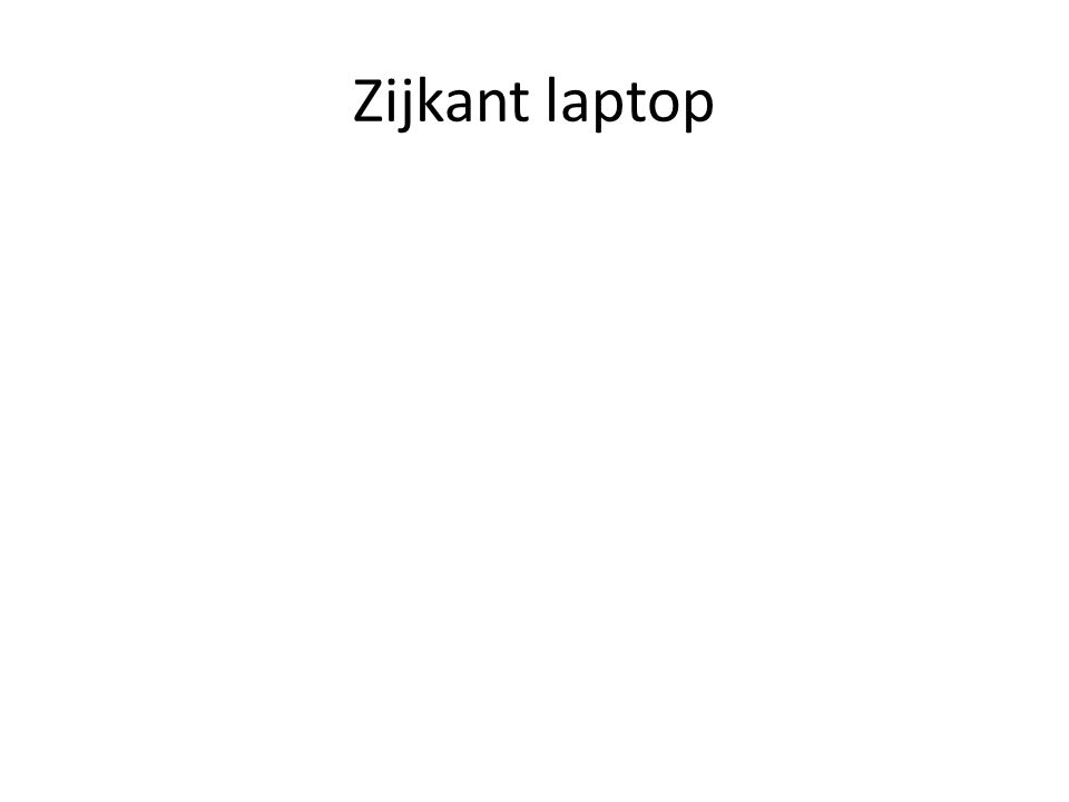 Zijkant laptop