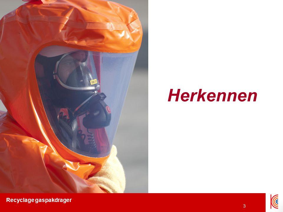 Recyclage gaspakdrager 4 Gebruiksverpakking  Globally Harmonised System (GHS) –Wereldwijde gelijkschaling van reglementering mbt labelling van gebruiksverpakking chemische stoffen –Timing Begin: 2007 Einde overschakelingsperiode: 2015 –Belangrijkste wijzigingen Oude pictogrammen  nieuwe pictogrammen R(isk) & S(afety)-zinnen  H(azard) en P(recautionary) zinnen Material Safety Data Sheet (MSDS)  Safety Data Sheet (SDS)