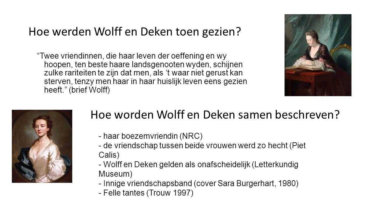 Wolff en Deken lesbisch.