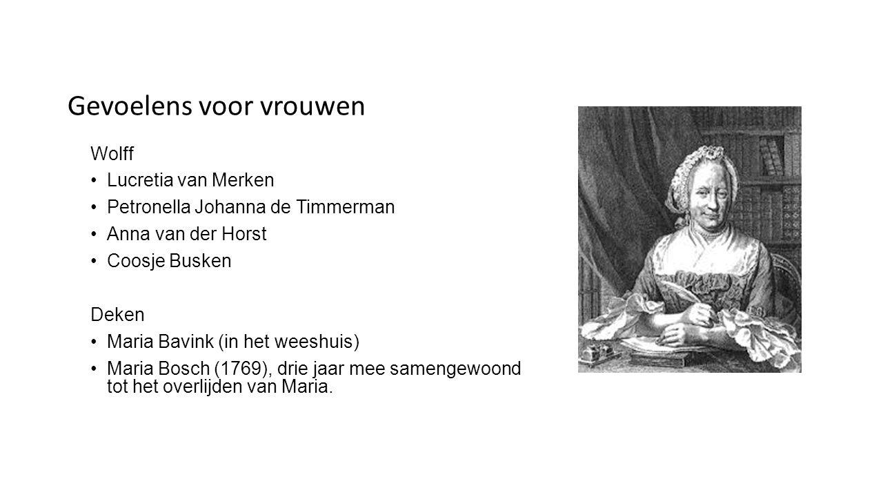 Receptie Biografie Johanna Naber (1913) Roman Jan Mens (1954) Tentoonstelling in Amsterdam, verzorgd door het Lesbisch Archief (1984) Biografie Piet Buijnsters (1984) Tuinhuisje in Beverwijk herbouwd (1993) Voorstelling geregisseerd door Jeroen Willems Ach Deken.