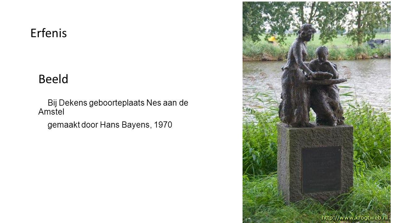 Beeld in Nes aan de Amstel Denk nooit aan Betje Wolff, of denk aan Aagje Deken (uit een brief van Betje Wolff, 16 oktober1776)