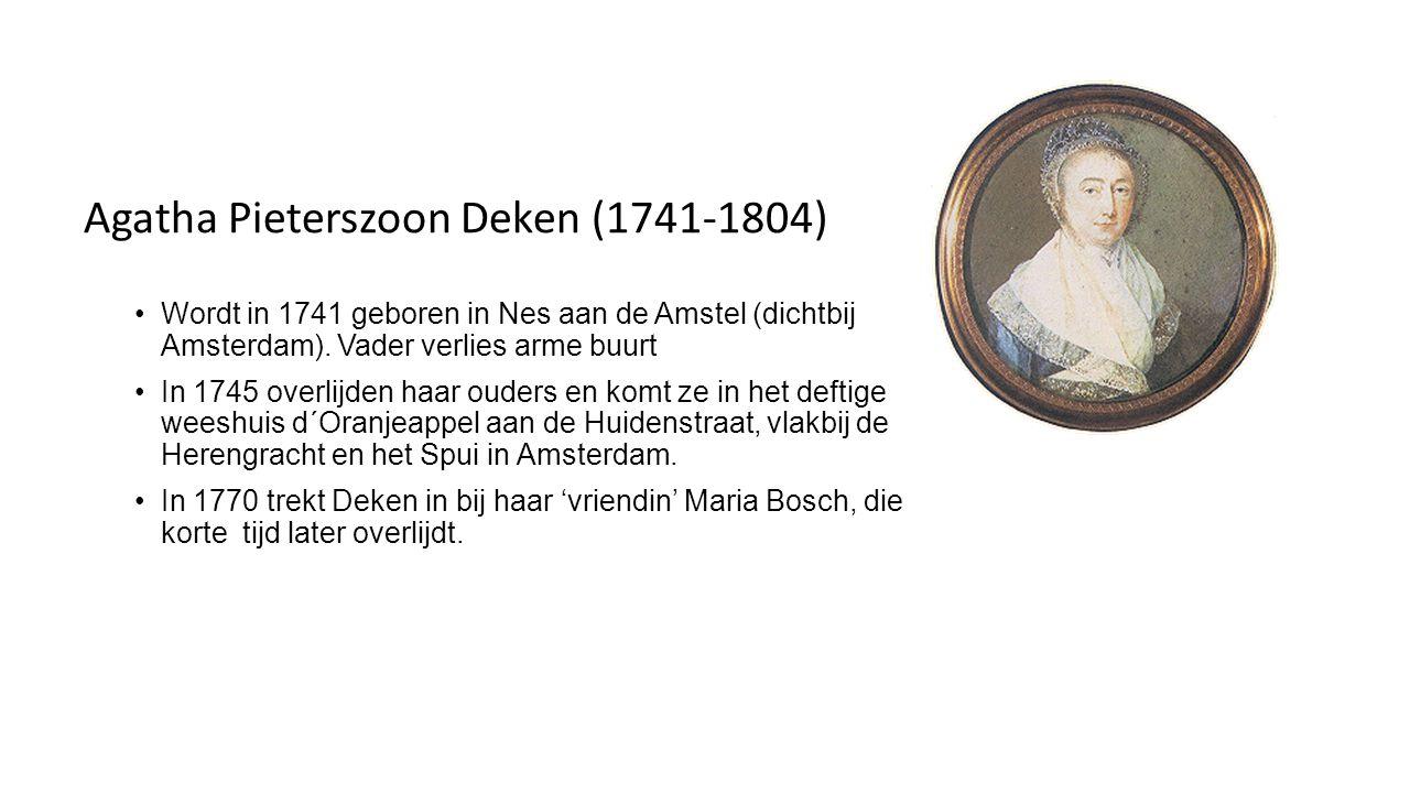 De ontmoeting in 1776 en samenleven sinds 1777 Deken is ontstemd over de felle spot van Wolff op de regenten en de kerk in die tijd en schrijft haar in juli 1776 een vermanende brief.