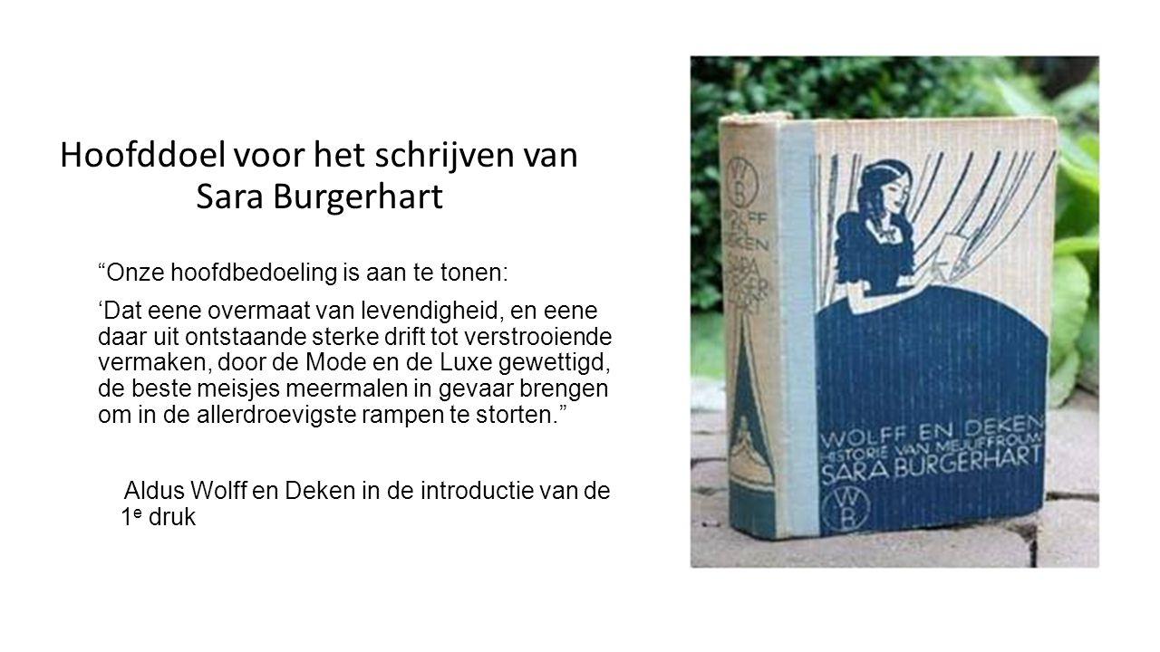 Sara Burgerhart Uit de introductie bij de 1 e druk, 1782 - Nederlandsche Juffers.