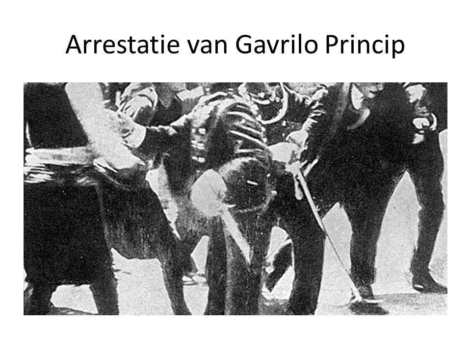 Gavrilo Princip aangehouden