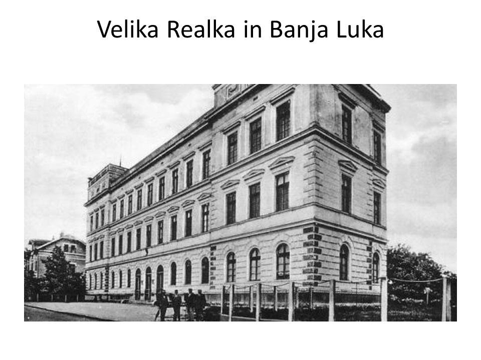 Banja Luka studenten Velika Realka 1910
