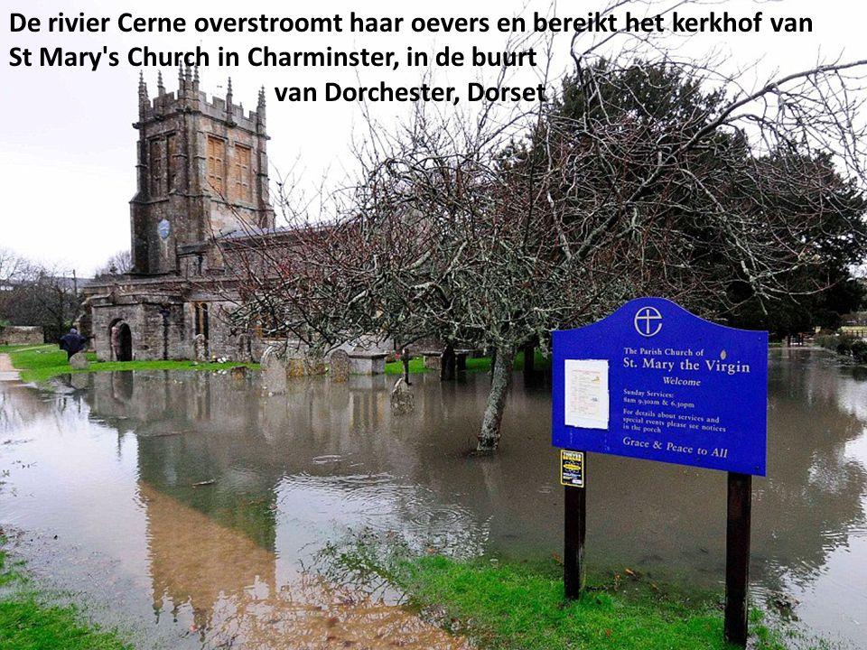 De Cricket Club grond was bedekt met hoogwater