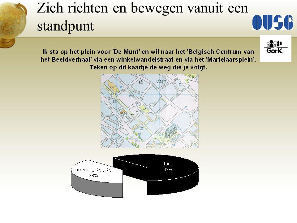 Relevante gegevens selecteren: 'De Munt' – winkelwandelstraat – 'Martelaarsplein' … Raadplegen legenda in bronnenboek en toepassen op 'verkleinde' kaart.
