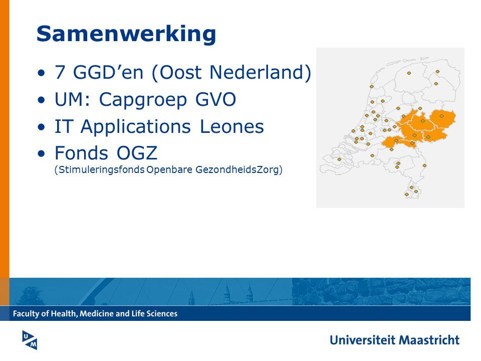 Samenwerking 7 GGD'en (Oost Nederland) UM: Capgroep GVO IT Applications Leones Fonds OGZ (Stimuleringsfonds Openbare GezondheidsZorg)