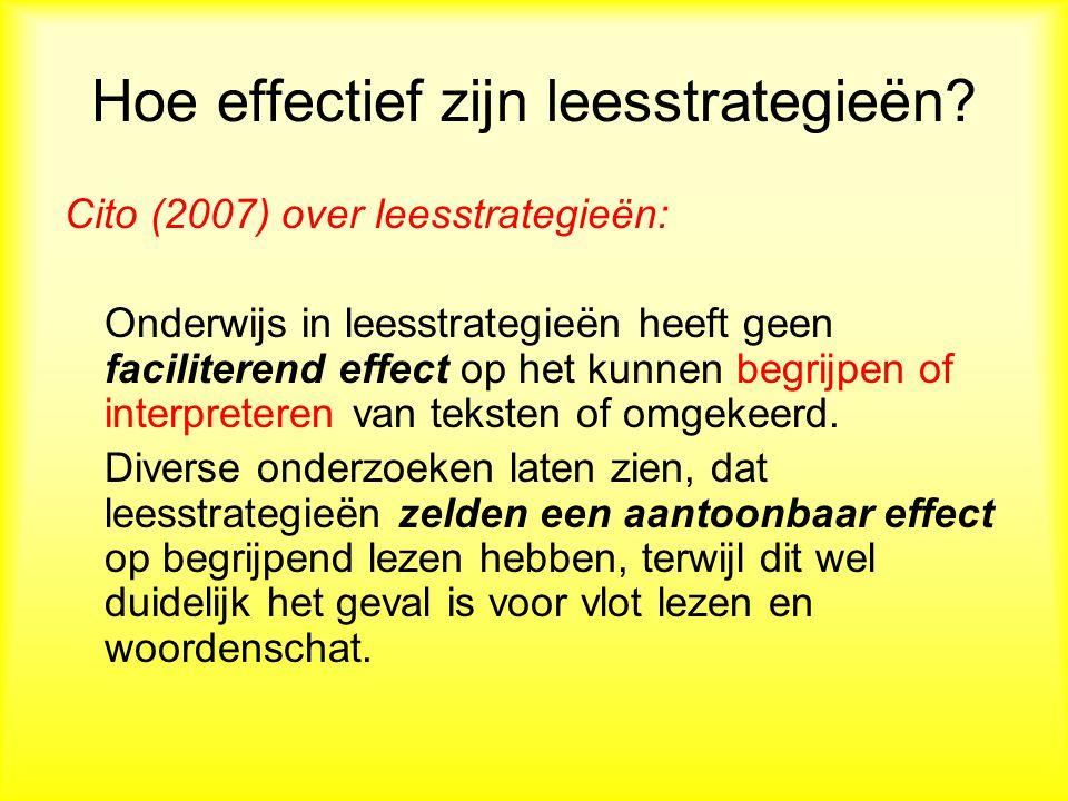 Hoe effectief zijn leesstrategieën.