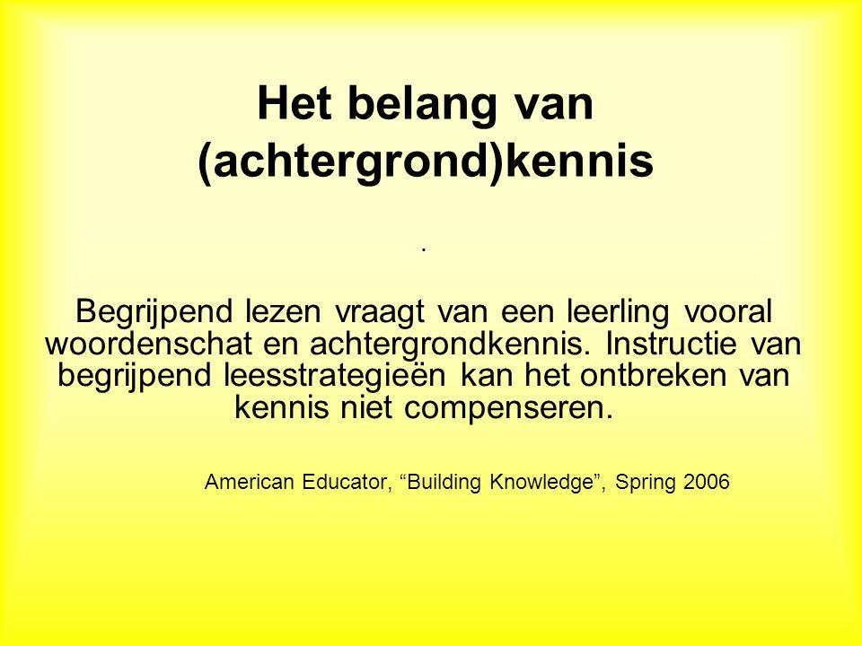 Het belang van (achtergrond)kennis.