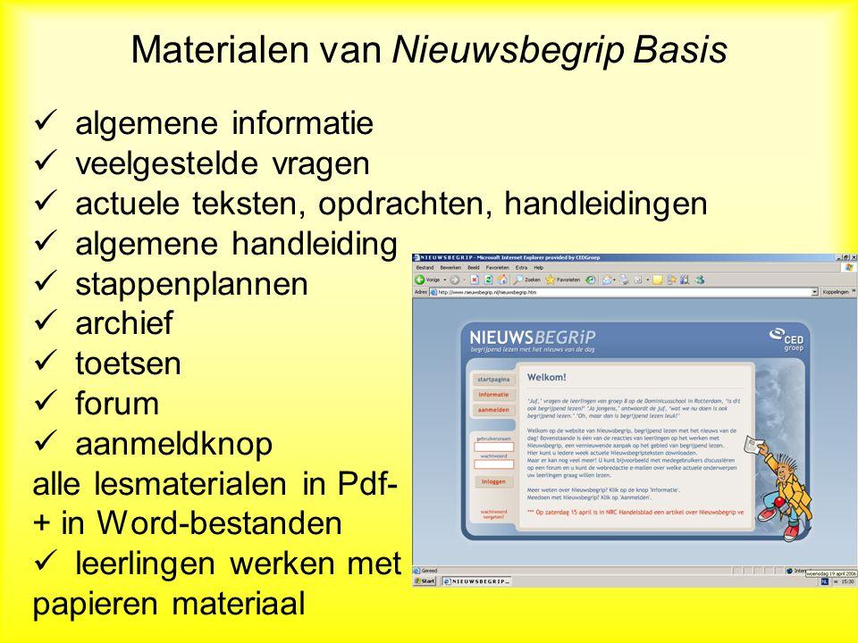 Nieuwsbegrip XL: actuele lessen met andere tekstsoorten -Nieuwsbegrip Basis biedt informatieve teksten aan.