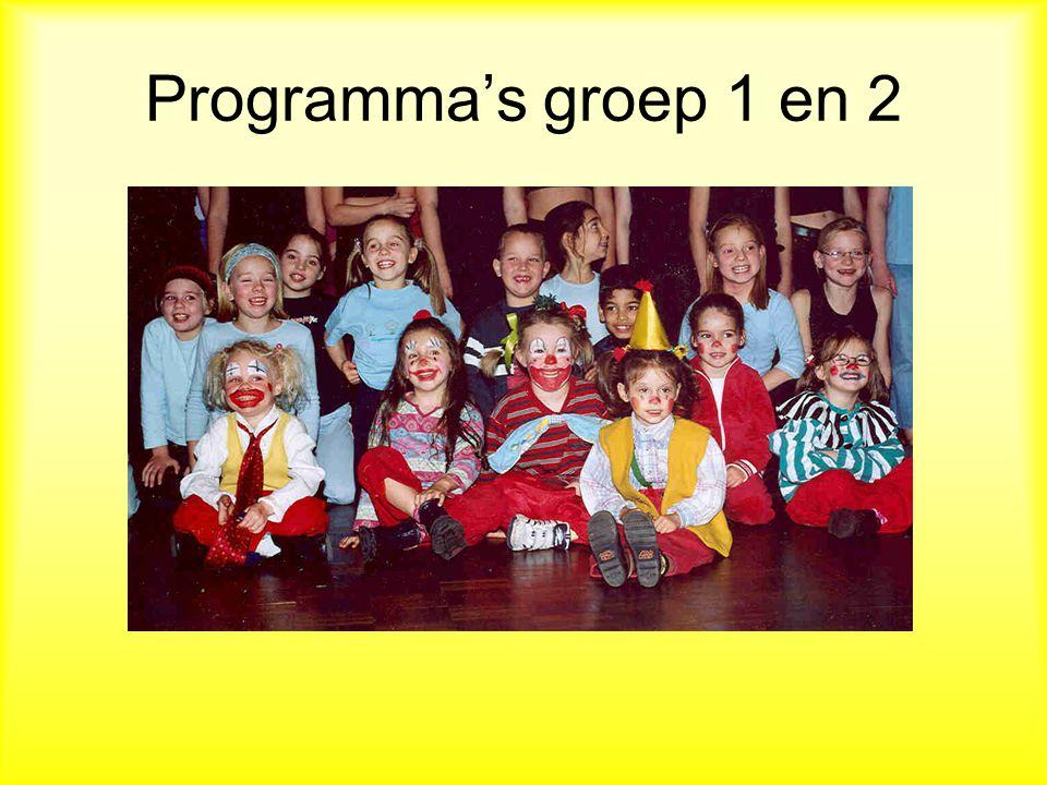 Programma's groep 1 en 2