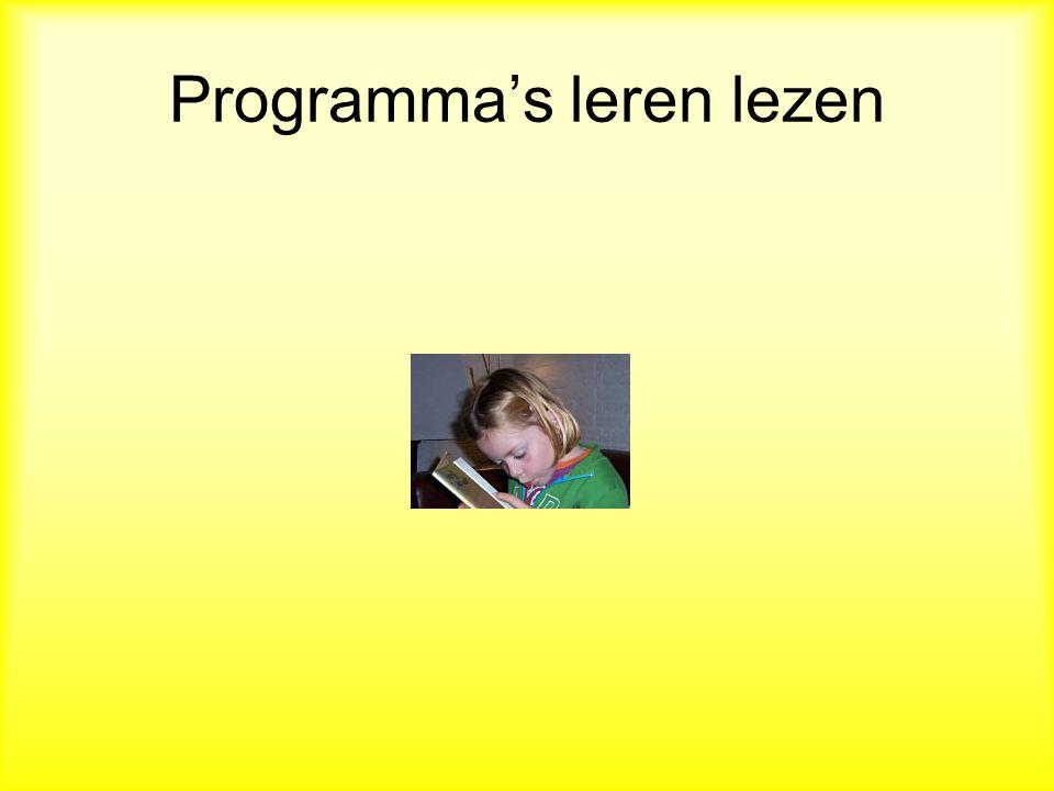 Programma's leren lezen