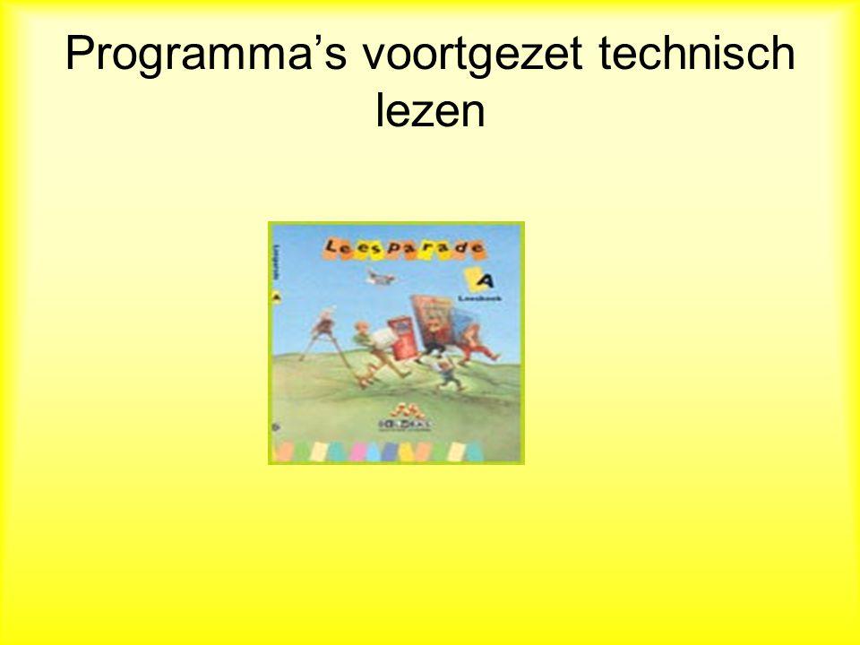 Programma's voortgezet technisch lezen
