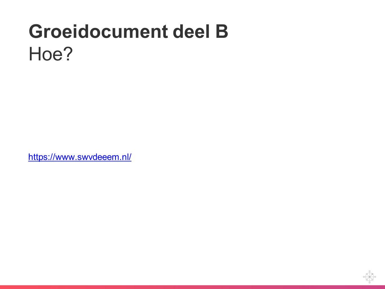 Groeidocument deel B Hoe? https://www.swvdeeem.nl/