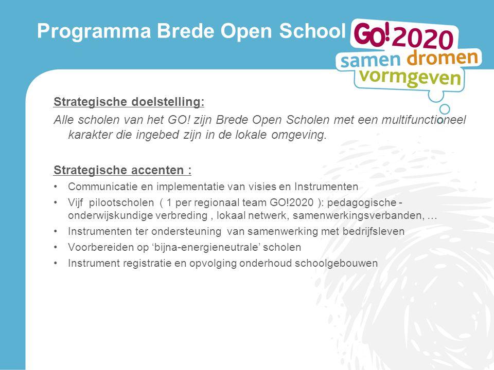 Programma Brede Open School Strategische doelstelling: Alle scholen van het GO.