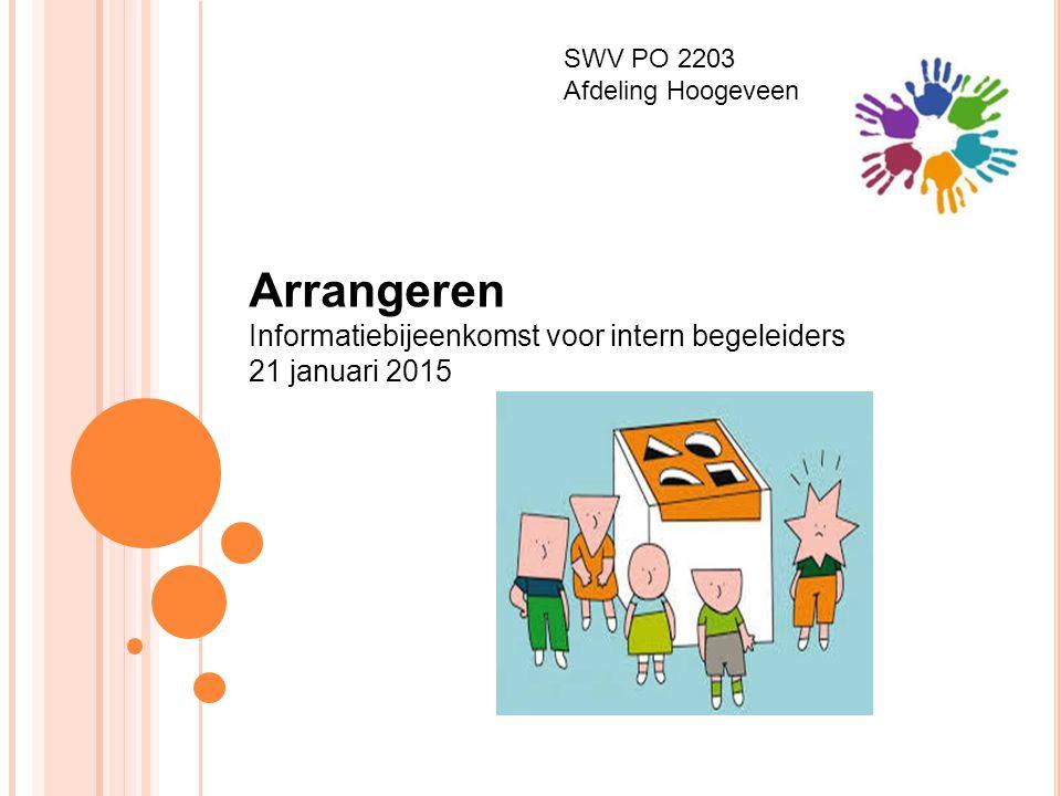 SWV PO 2203 Afdeling Hoogeveen Arrangeren Informatiebijeenkomst voor intern begeleiders 21 januari 2015