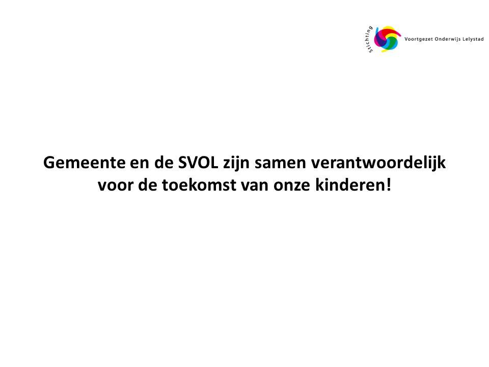 Gemeente en de SVOL zijn samen verantwoordelijk voor de toekomst van onze kinderen!