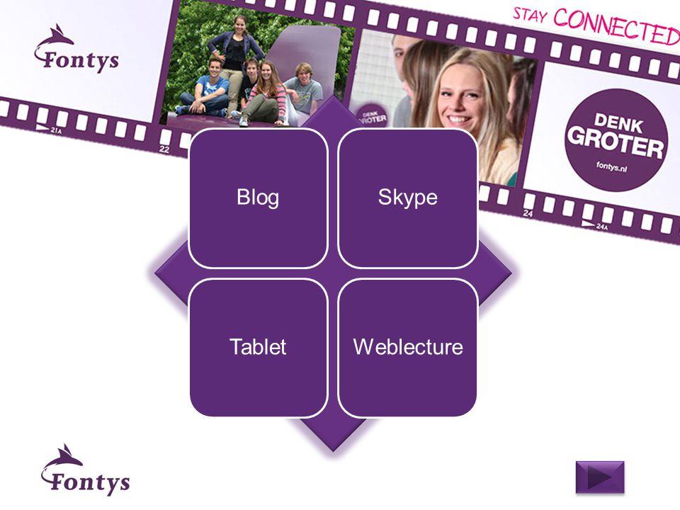 Studenten onderhouden een wekelijkse blog over hun ontwikkelingen gedurende een opleidingsmodule Casus #1 - Blog