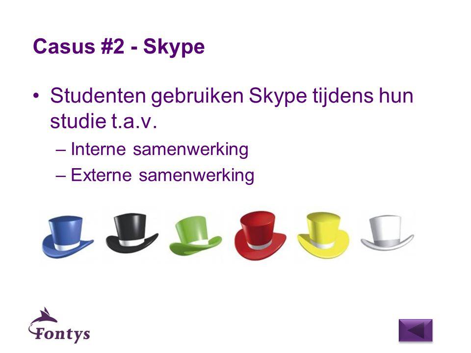 Studenten gebruiken Skype tijdens hun studie t.a.v.